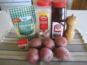 Parmesan Baked Potatoe Halves (2)