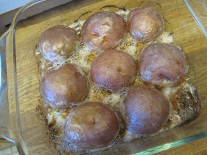 Parmesan Baked Potatoe Halves