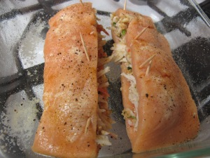 1 Crab-Stuffed Salmon (6)