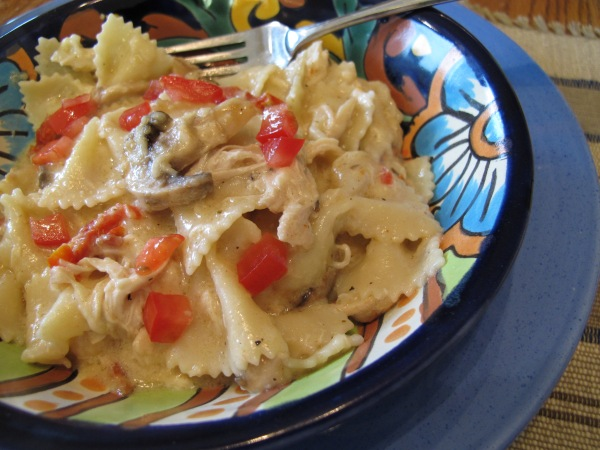 1 Farfalle with Chicken and Mushrooms (5)